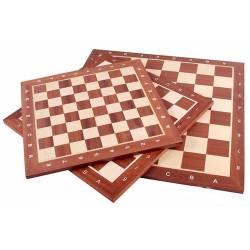 Chess board Mahogany wood with coordinates 48 cm.