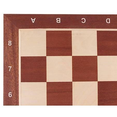 Tablero de ajedrez madera Caoba 54 cm. coordenadas