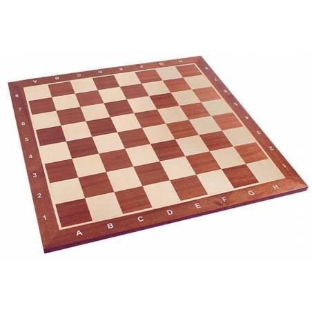 Chess board Mahogany 54 cm. coordinates