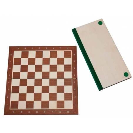 Tablero ajedrez Madera de Caoba plegable
