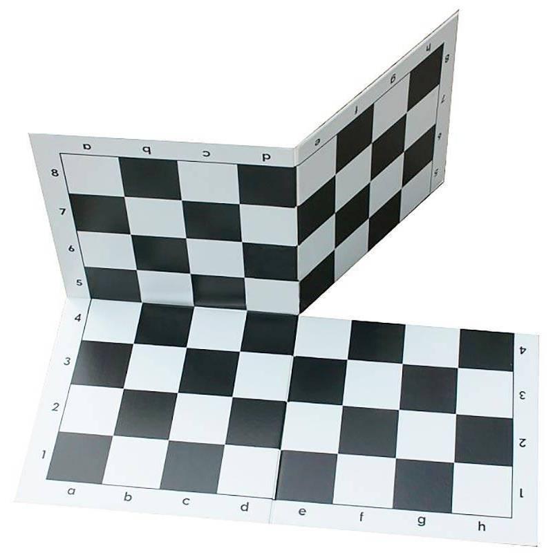 Tablero ajedres de plástico plegable en 4