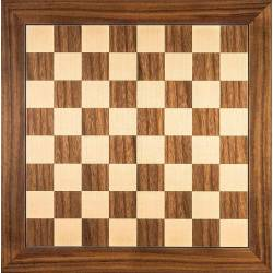 Chess wooden board Walnut 50 cm. top Rechapados Ferrer