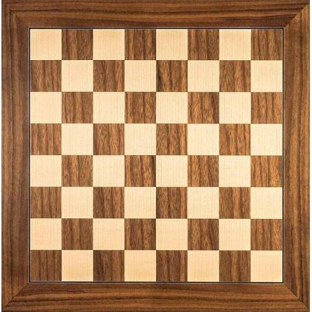 Chess wooden board Walnut 50 cm. top Rechapados Ferrer