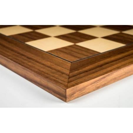Tablero ajedrez madera Nogal 50 cm. superior Rechapados Ferrer