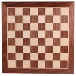 Chess board Walnut 48 cm. coordinates