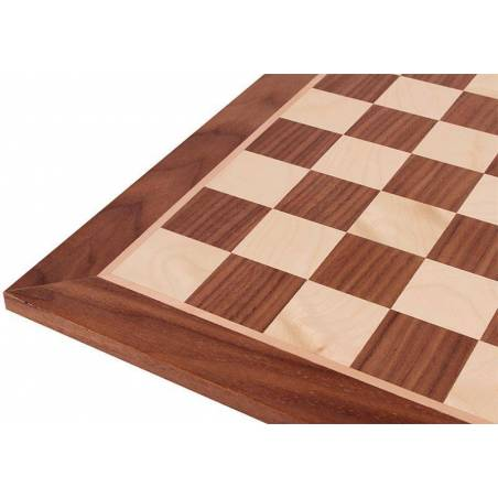 Chess board Walnut 48 cm. coordinates