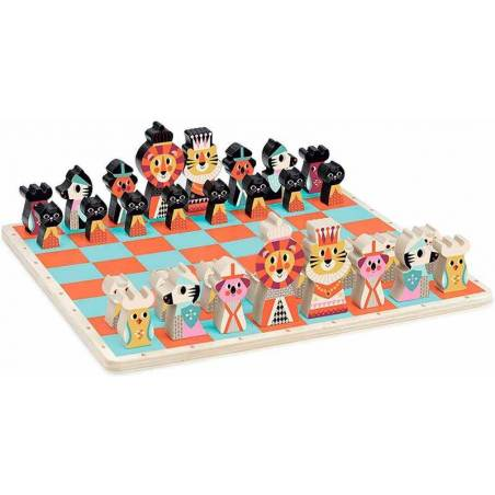Conjunto ajedrez animales