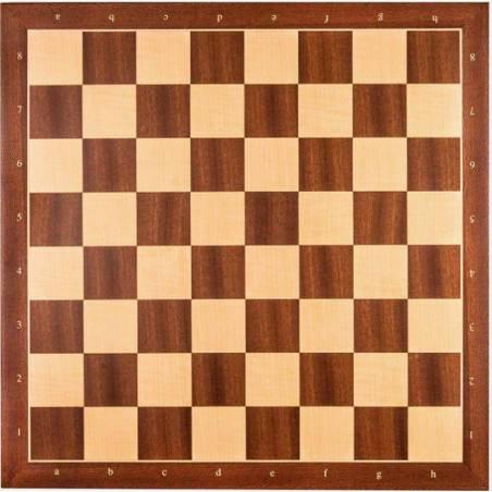 Tauler escacs fusta de Sapelly 45 cm. coordenades Rechapados Ferrer