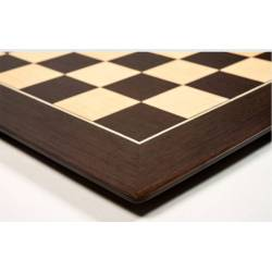 Wengue Barcelona 50 cm board and ebonized Zagreb model pieces