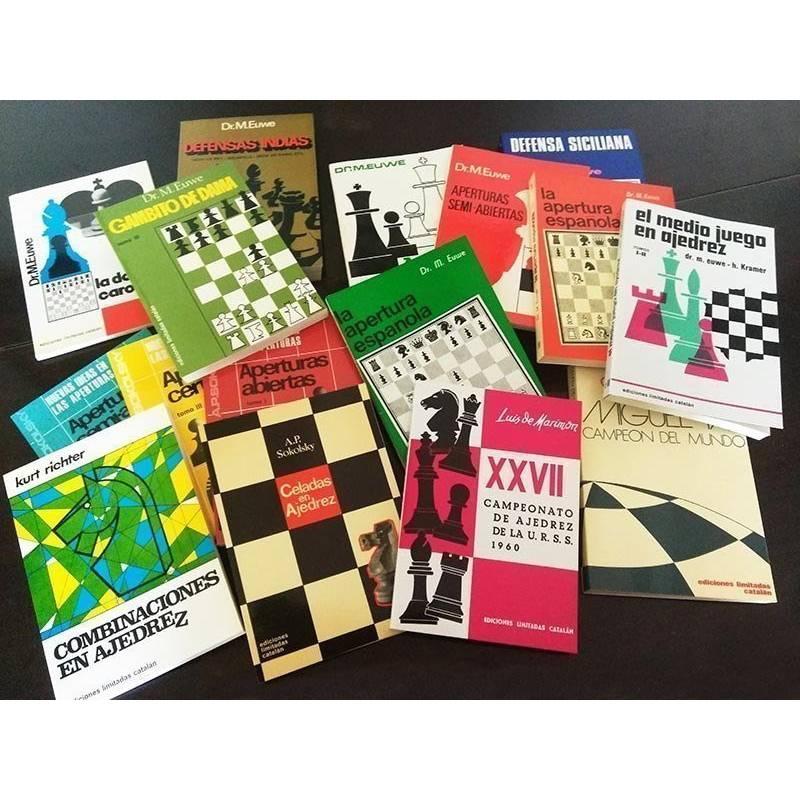 Lote oferta 16 libros de ajedrez