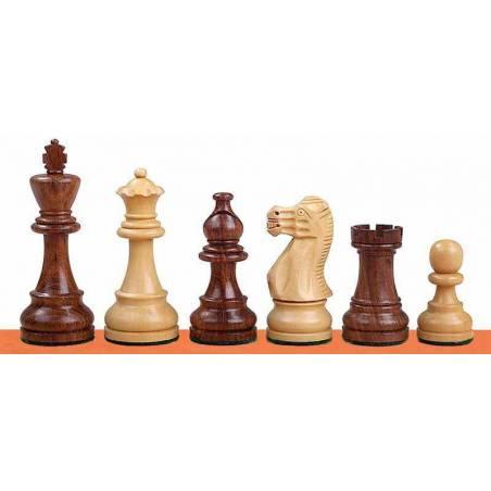 Piezas ajedrez modelo Classic Acacia y Ebonizado