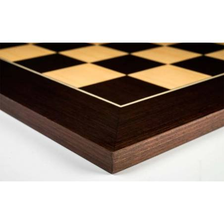 Chess board wooden Wengue De Luxe 50 cm. Rechapados Ferrer