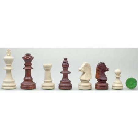 Conjunto de ajedrez madera de nogal 37 cm.