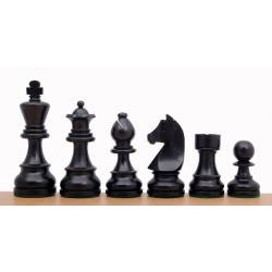 Piezas de ajedrez German Knight ebonizadas