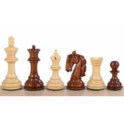 Chess pieces model Columbian acacia