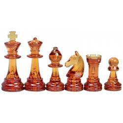 Chess pieces plastic amber and transparent