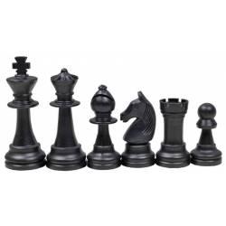 Piezas de ajedrez natural y negro