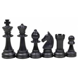 Chess pieces natural and black