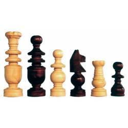 Piezas ajedrez madera modelo Corriente Mora