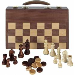 Maletin 3 en 1 ajedrez, damas, backgammon