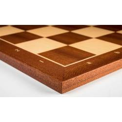 Tablero ajedrez madera Sapelly 45 cm. coordenadas Rechapados Ferrer