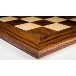 Tablero ajedrez madera Palisandro Santos deluxe. Rechapados Ferrer