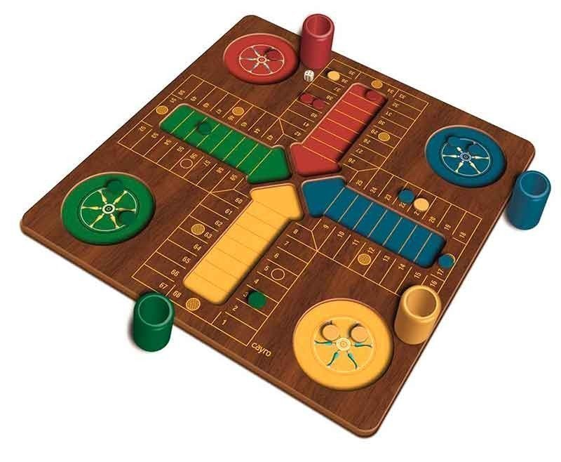 Plus wooden parchis