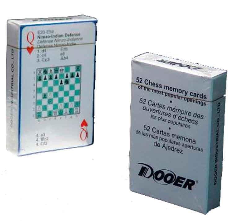 Baraja cartas de póker de ajedrez
