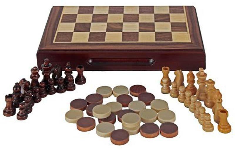 Escacs i dames magnètic.