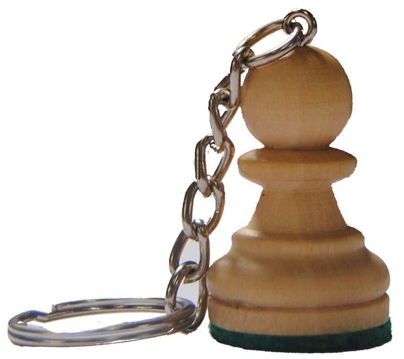 Wooden keychain Pawn.