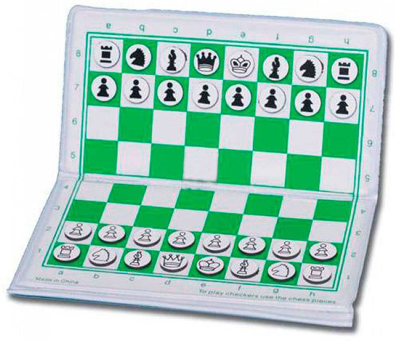 Magnetic pocket chess set  folding 17 and 23 cm