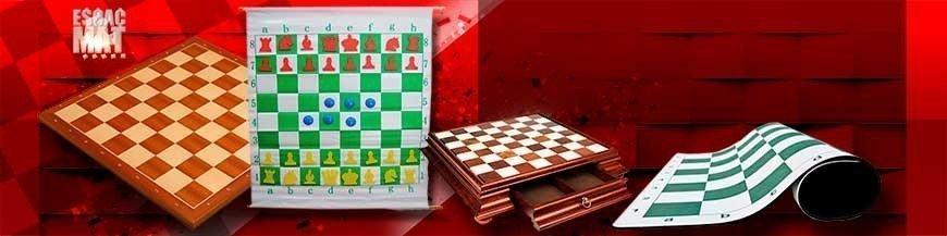 Plastic chess boards